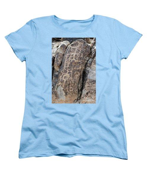 White Tank Petroglyphs #1 Women's T-Shirt (Standard Cut) by Anne Rodkin