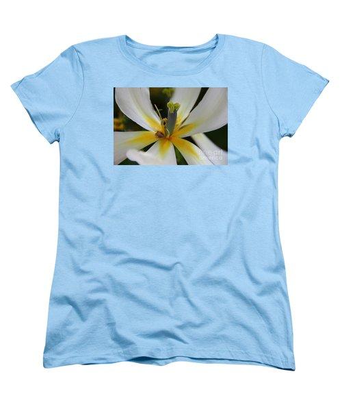 Women's T-Shirt (Standard Cut) featuring the photograph White Tulip by Jolanta Anna Karolska