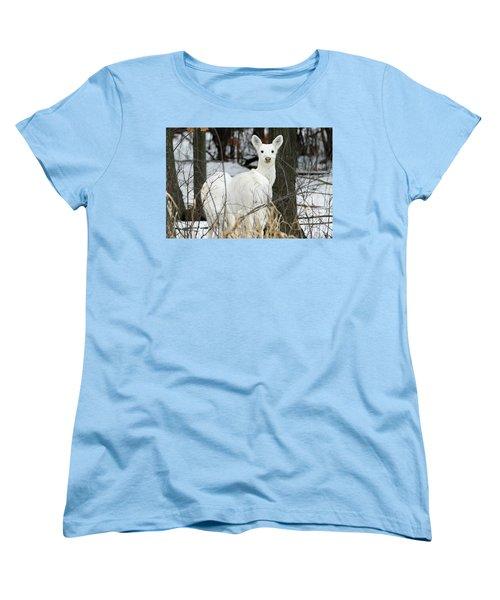 White Visitor Women's T-Shirt (Standard Cut) by Brook Burling