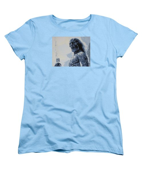 Women's T-Shirt (Standard Cut) featuring the painting White Walker by Luis Ludzska