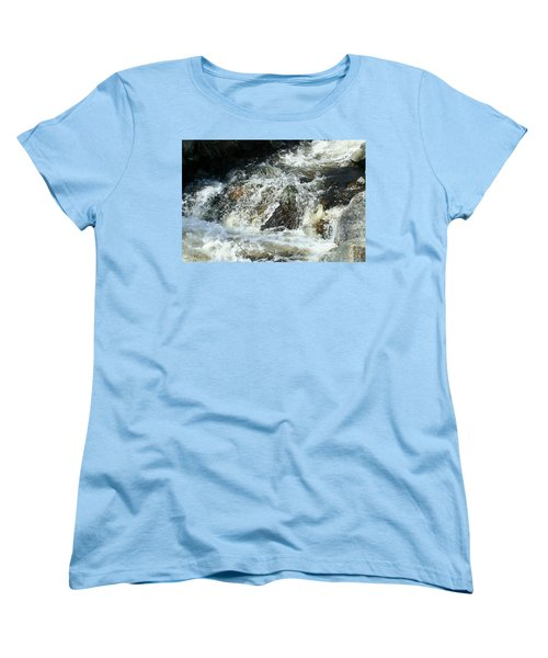 Women's T-Shirt (Standard Cut) featuring the digital art White Water by Barbara S Nickerson