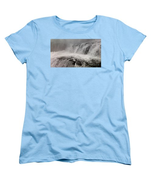 Women's T-Shirt (Standard Cut) featuring the photograph White Water by Raymond Earley