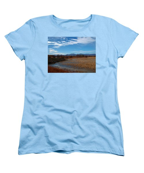 Women's T-Shirt (Standard Cut) featuring the photograph Whitewater Draw by James Peterson