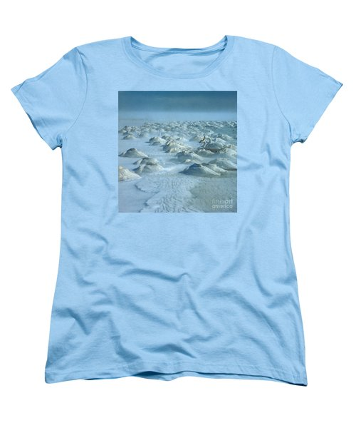 Whooper Swans In Snow Women's T-Shirt (Standard Cut) by Teiji Saga and Photo Researchers