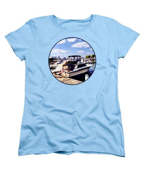 Wiggins Park Marina Women's T-Shirt (Standard Cut) by Susan Savad