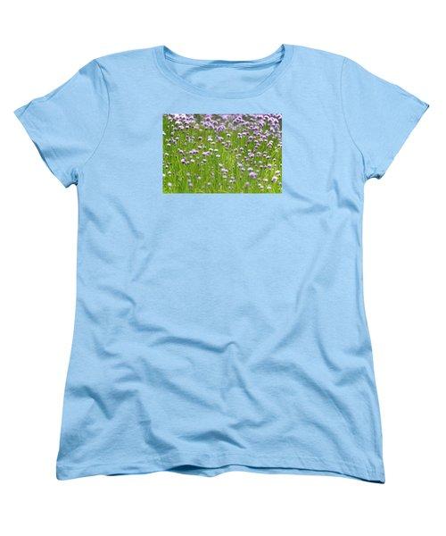 Women's T-Shirt (Standard Cut) featuring the photograph Wild Chives by Chevy Fleet