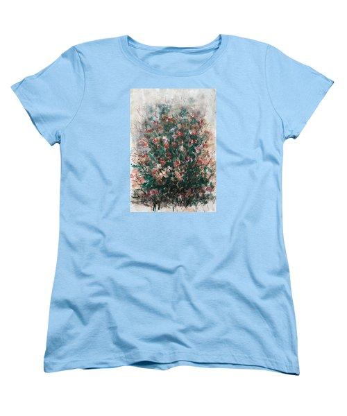 Women's T-Shirt (Standard Cut) featuring the painting Wild Flowers by Laila Awad Jamaleldin