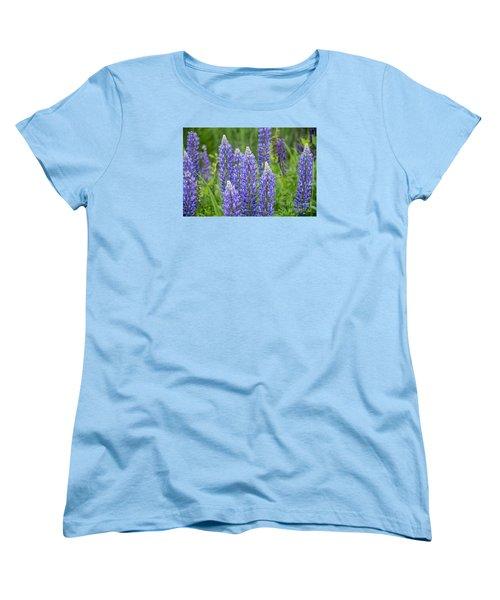 Women's T-Shirt (Standard Cut) featuring the photograph Wild Lupine by Alana Ranney
