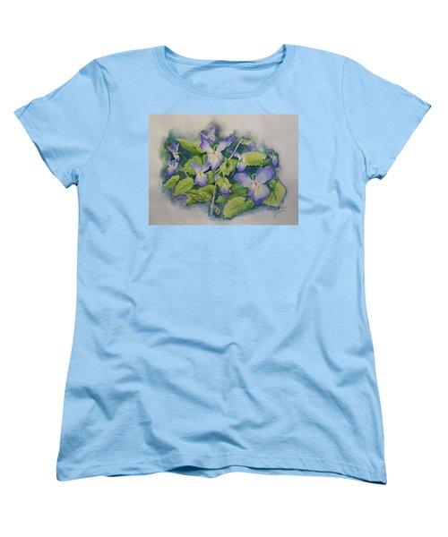 Wild Violets Women's T-Shirt (Standard Cut) by Marilyn Zalatan