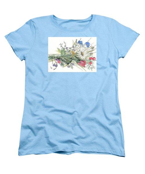 Wildflower Bouquet Women's T-Shirt (Standard Cut)