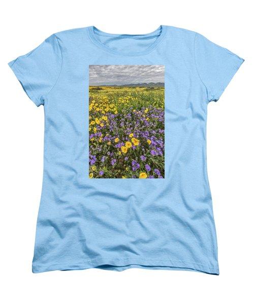 Women's T-Shirt (Standard Cut) featuring the photograph Wildflower Super Bloom by Peter Tellone