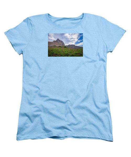 Wildflowers In The Grand Tetons Women's T-Shirt (Standard Cut) by Serge Skiba