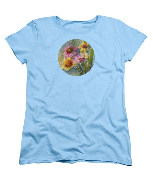 Women's T-Shirt (Standard Cut) featuring the painting Wildflowers by Mary Wolf