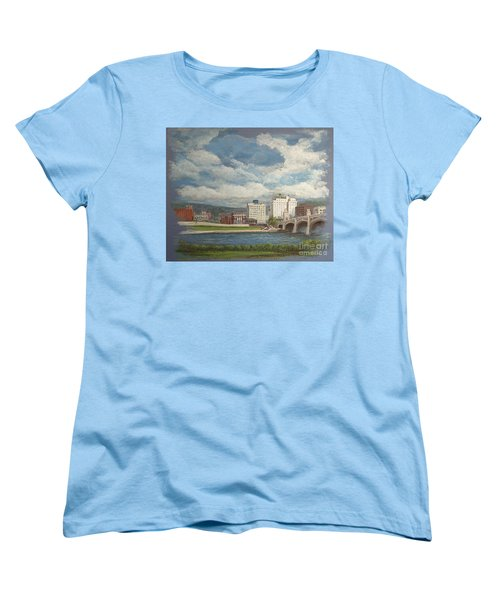 Wilkes-barre And River Women's T-Shirt (Standard Cut) by Christina Verdgeline