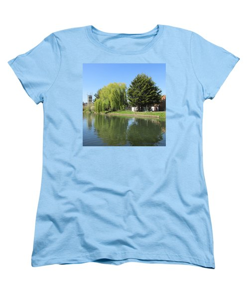 Women's T-Shirt (Standard Cut) featuring the photograph Jessica Willow Likes David Pine - Grand Union Canal - Park Royal  by Mudiama Kammoh