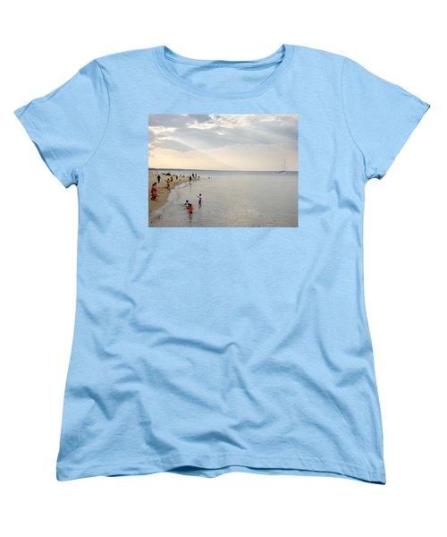 Wilmette Beach Labor Day 2009 Women's T-Shirt (Standard Cut) by John Hansen
