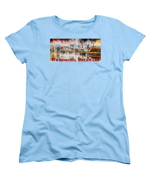 Wilmington City Lights Women's T-Shirt (Standard Cut) by Kai Saarto