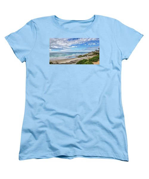 Women's T-Shirt (Standard Cut) featuring the photograph Windansea Wonderful by Peter Tellone