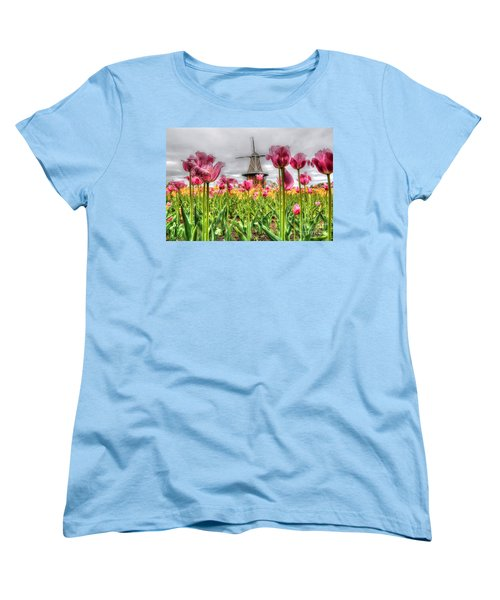 Women's T-Shirt (Standard Cut) featuring the photograph Windmill Island by Robert Pearson