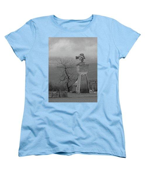 Windmill Of Old Women's T-Shirt (Standard Cut) by Suzy Piatt