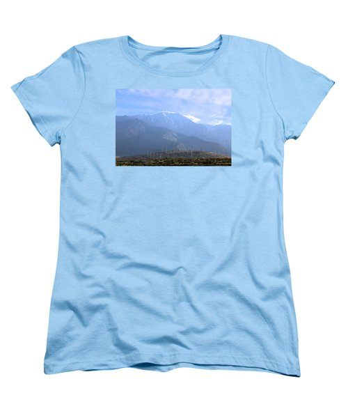 Windmills At San Jacinto Mt Women's T-Shirt (Standard Cut) by Viktor Savchenko