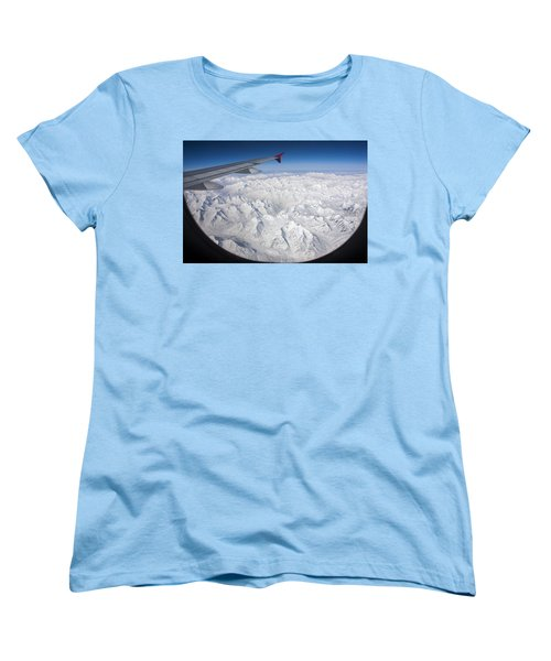 Window To Himalaya Women's T-Shirt (Standard Cut) by Hitendra SINKAR