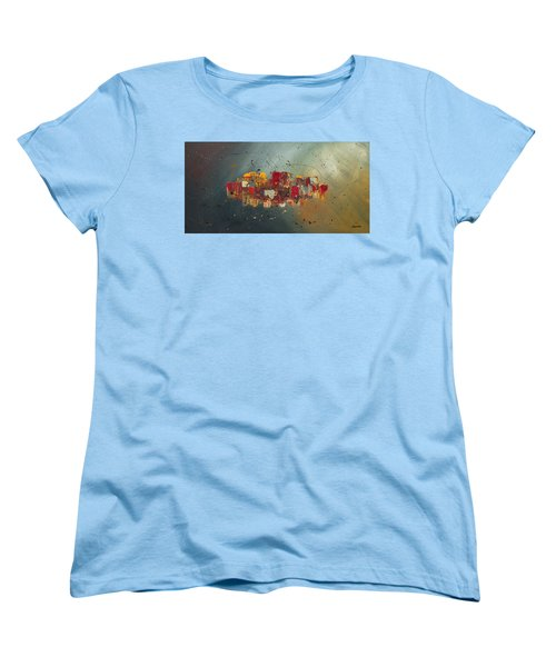 Women's T-Shirt (Standard Cut) featuring the painting Winds Of Prosperity by Carmen Guedez