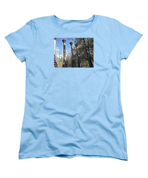 Women's T-Shirt (Standard Cut) featuring the photograph Windsor Ruins by Helen Haw