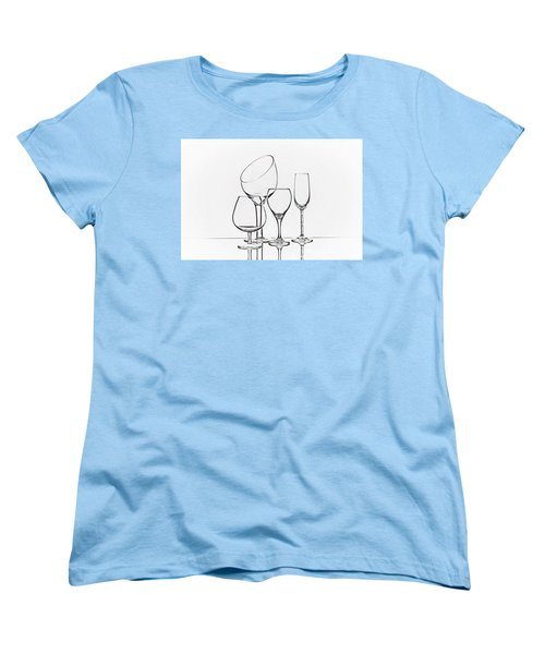 Wineglass Graphic Women's T-Shirt (Standard Cut) by Tom Mc Nemar