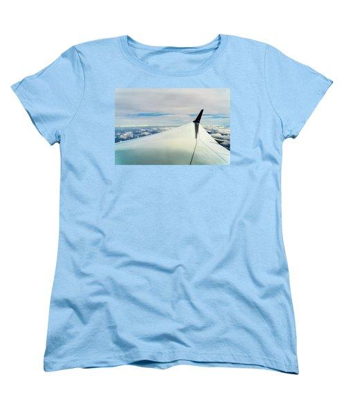 Wing And Clouds Women's T-Shirt (Standard Cut) by Robert FERD Frank