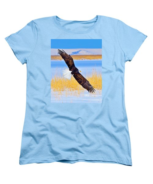 Women's T-Shirt (Standard Cut) featuring the photograph Wingspan by Greg Norrell