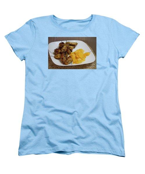 Winner Winner Chicken Dinner Women's T-Shirt (Standard Cut) by Anne Rodkin