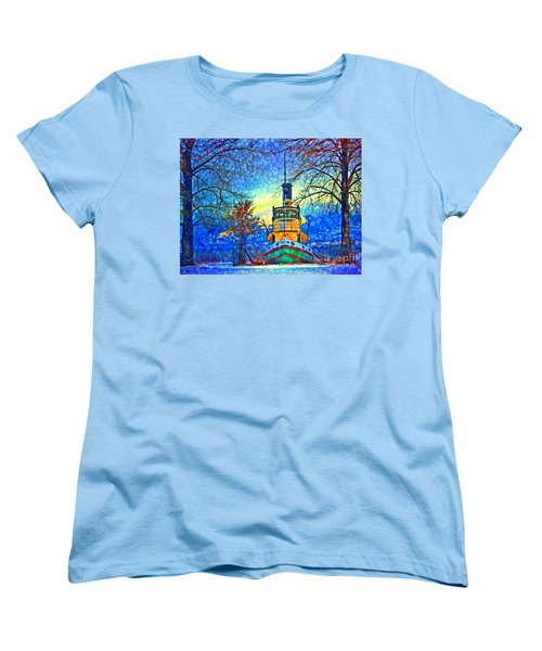 Winter And The Tug Boat 2 Women's T-Shirt (Standard Cut)