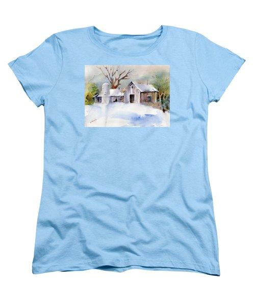 Winter Barn Women's T-Shirt (Standard Cut) by P Anthony Visco