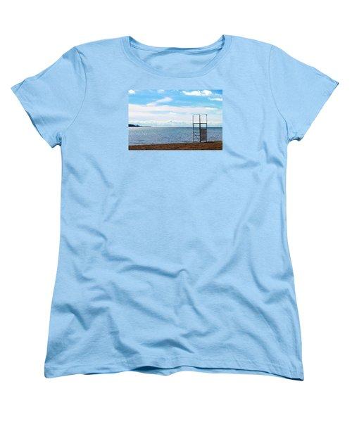 Women's T-Shirt (Standard Cut) featuring the photograph Winter Beach by Valentino Visentini