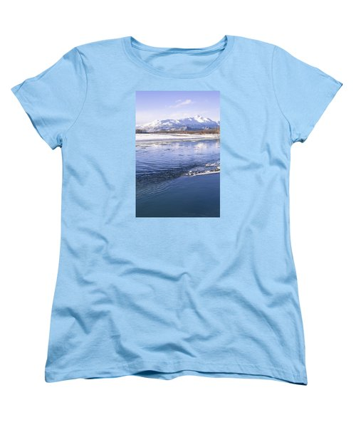 Winter Blues Women's T-Shirt (Standard Cut) by Michele Cornelius