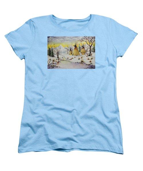 Winter Camp Women's T-Shirt (Standard Cut) by Jimmy Smith