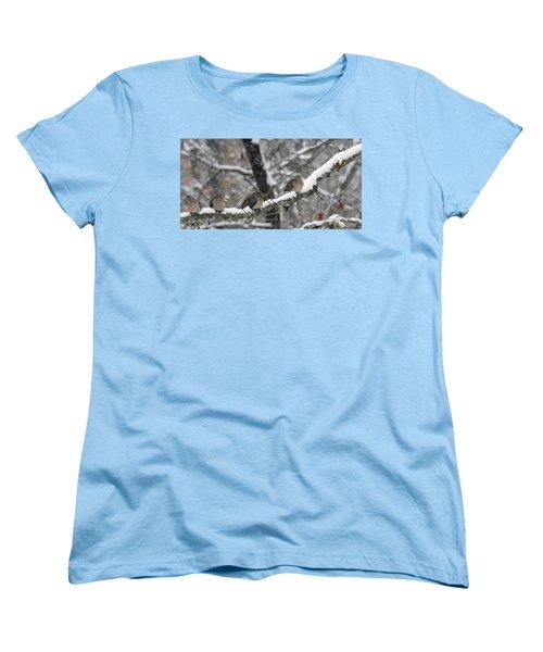 Winter Doves Women's T-Shirt (Standard Cut) by Diane Giurco
