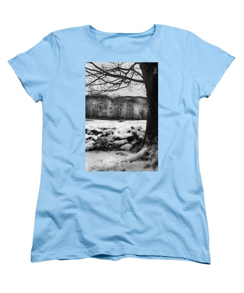 Women's T-Shirt (Standard Cut) featuring the photograph Winter Dreary by Bill Wakeley