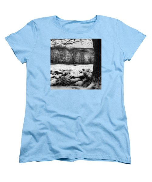 Women's T-Shirt (Standard Cut) featuring the photograph Winter Dreary Square by Bill Wakeley