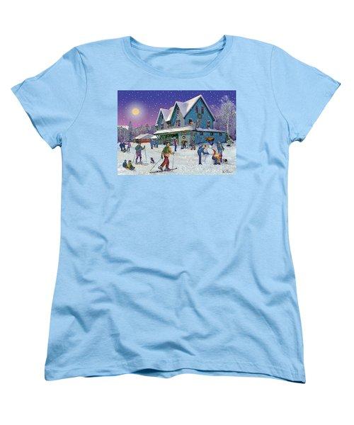 Winter In Campton Village Women's T-Shirt (Standard Cut) by Nancy Griswold