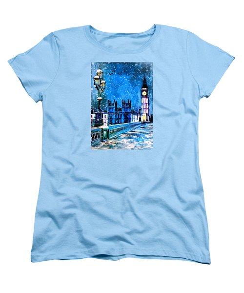 Winter In London  Women's T-Shirt (Standard Cut) by Andrzej Szczerski