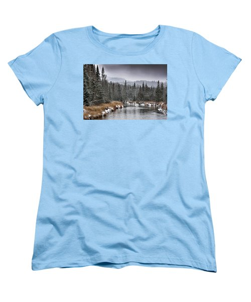 Winter In The Adirondack Mountains - New York Women's T-Shirt (Standard Cut) by Brendan Reals