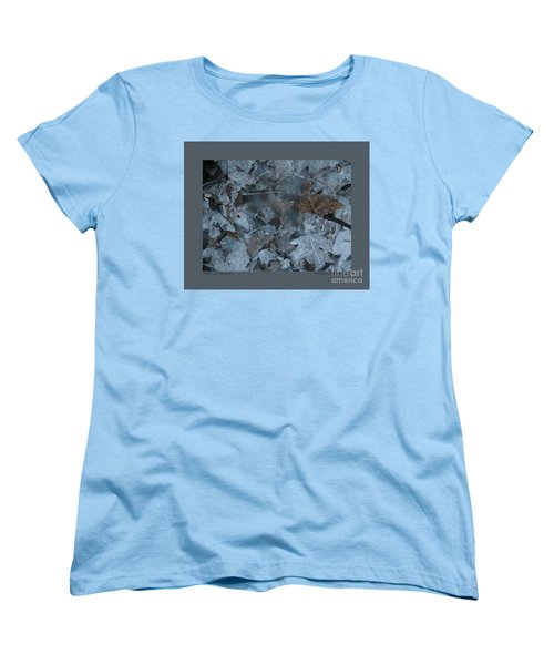 Women's T-Shirt (Standard Cut) featuring the photograph Winter Leaf Abstract-v by Patricia Overmoyer