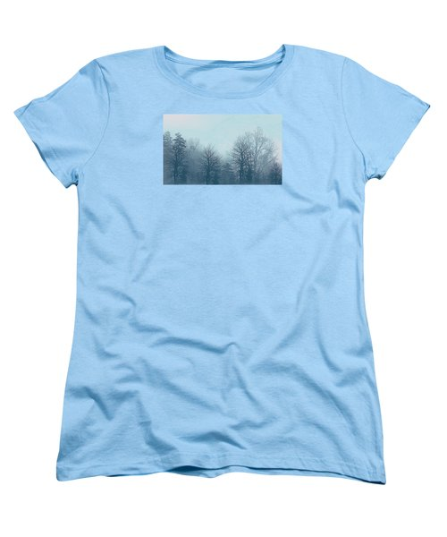 Women's T-Shirt (Standard Cut) featuring the digital art Winter Morning by Milena Ilieva