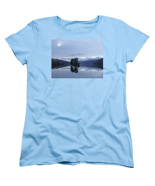 Women's T-Shirt (Standard Cut) featuring the photograph Winter Reflections - Loch Tay by Phil Banks