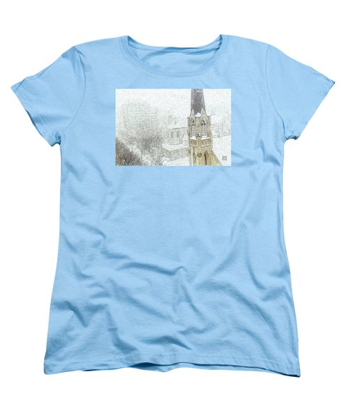 Winter Scene A La Van Gogh Women's T-Shirt (Standard Cut) by Yvonne Wright