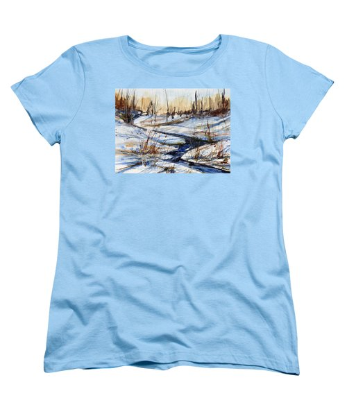 Winter Stream Women's T-Shirt (Standard Cut) by Judith Levins