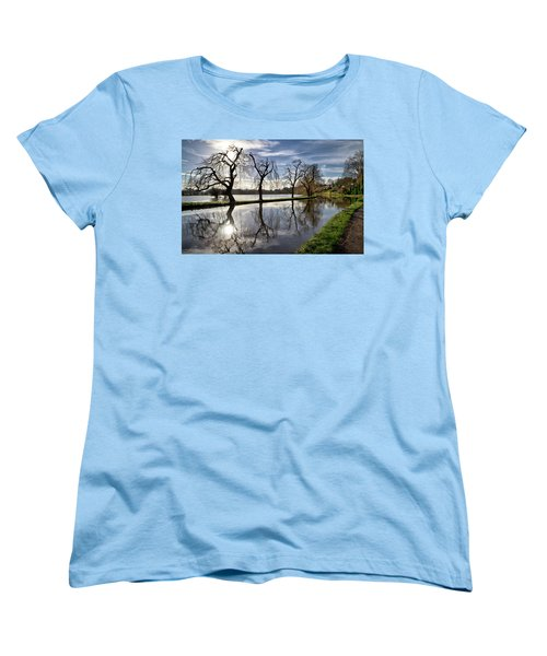 Women's T-Shirt (Standard Cut) featuring the photograph Winter Sun by Shirley Mitchell