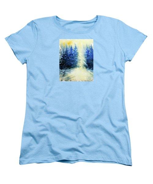 Winter Sunrise Women's T-Shirt (Standard Cut) by Rebecca Davis